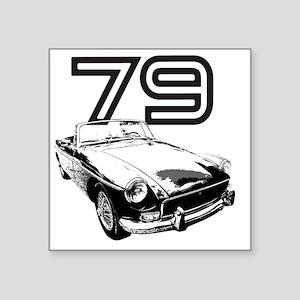 "MG 1979 copy Square Sticker 3"" x 3"""