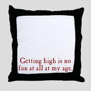 getting-high3 Throw Pillow