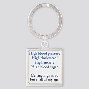 getting-high1 Square Keychain