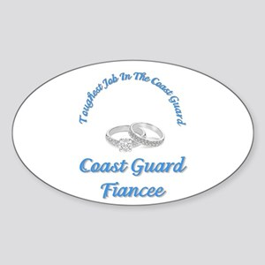 coast guard fiancee Oval Sticker