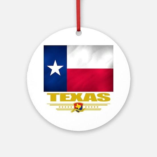 Texas (Flag 10) Round Ornament