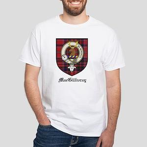 MacGillivray Clan Crest Tartan White T-Shirt