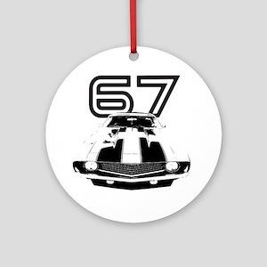 Camaro 1967 copy Round Ornament