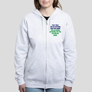exercising_rnd2 Women's Zip Hoodie