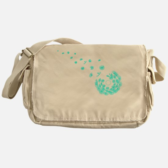 Dandelion aqua Messenger Bag