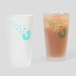 Dandelion aqua Drinking Glass
