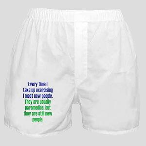 exercising_tall2 Boxer Shorts