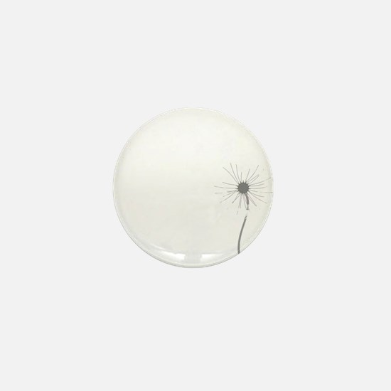 Dandelion whitegray Mini Button