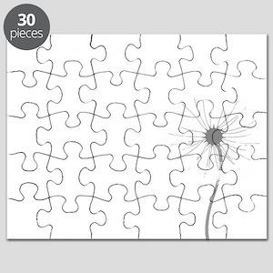 Dandelion whitegray Puzzle