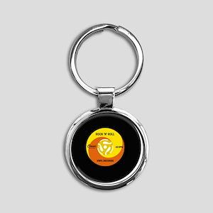 rocknrollrecord Round Keychain