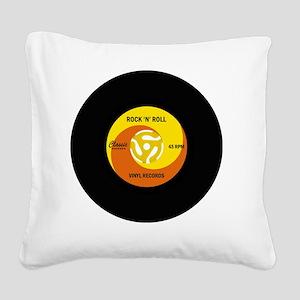 rocknrollrecord Square Canvas Pillow