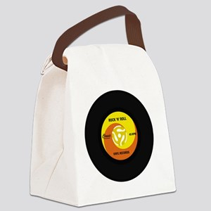 rocknrollrecord Canvas Lunch Bag