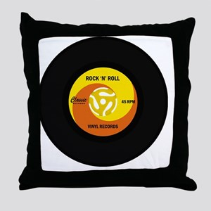 rocknrollrecord Throw Pillow