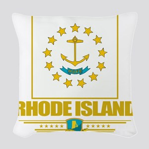 Rhode Island (Flag 10) Woven Throw Pillow