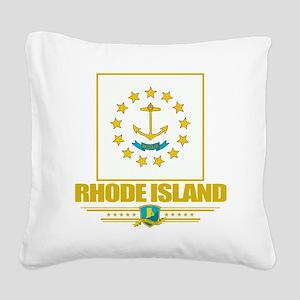 Rhode Island (Flag 10) Square Canvas Pillow