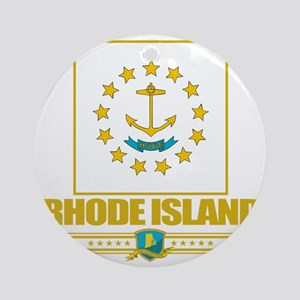 Rhode Island (Flag 10) Round Ornament