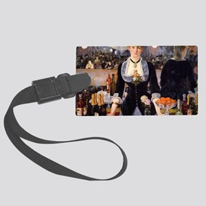 A Bar at Folies Bergere Large Luggage Tag