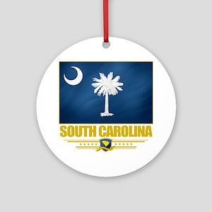 South Carolina (Flag 10) Round Ornament