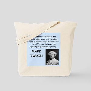 Mark Twain Quote Tote Bag