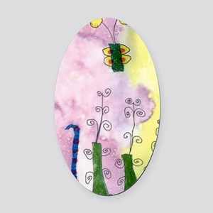 Mikeys Art Picture 1 Oval Car Magnet