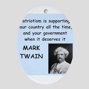 Mark Twain Quote Ornament (Oval)