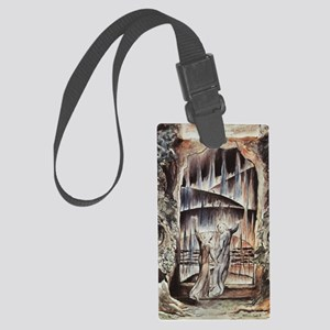 Dante and Virgil at the Entrance Large Luggage Tag