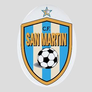 *San-Martin-CF-Argentina shield Oval Ornament