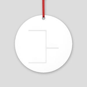 You Me bracket-2 Round Ornament