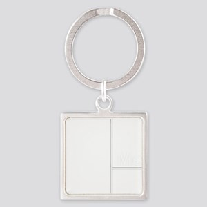 You Me bracket-2 Square Keychain
