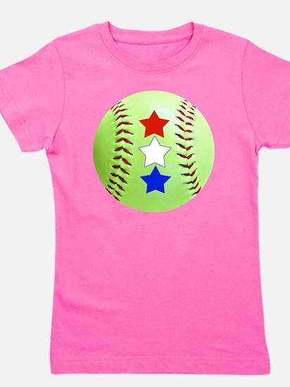 Softball Stars Jewelry, Magnets, Button Girl's Tee
