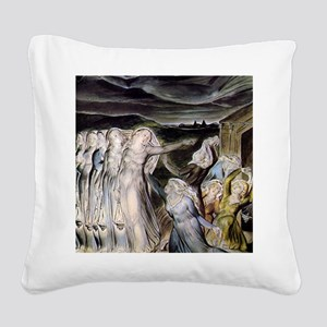 The Wise and Foolish Virgins Square Canvas Pillow