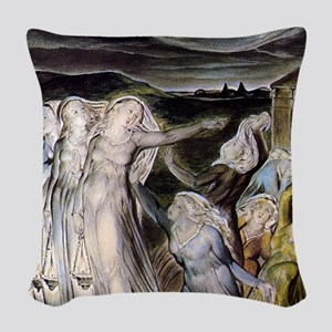 The Wise and Foolish Virgins Woven Throw Pillow