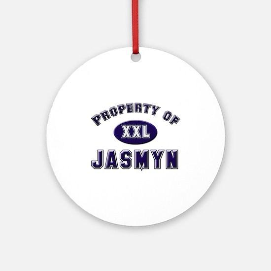 Property of jasmyn Ornament (Round)