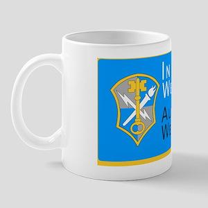 INSCOM_CP_lincenseplate_flat Mug