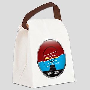 BadAttitude_circle Canvas Lunch Bag