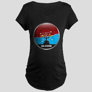 BadAttitude_circle Maternity Dark T-Shirt