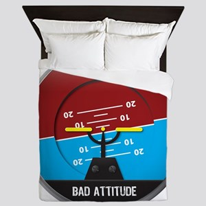 BadAttitude_circle Queen Duvet