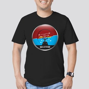 BadAttitude_circle Men's Fitted T-Shirt (dark)