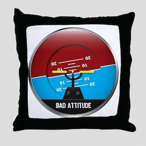 BadAttitude_circle Throw Pillow
