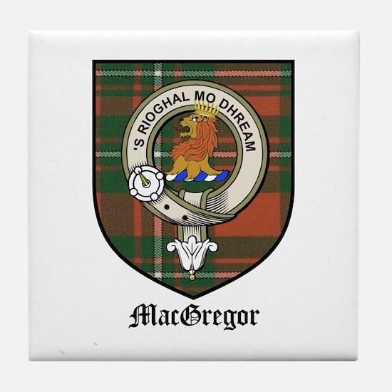 MacGregor Clan Crest Tartan Tile Coaster