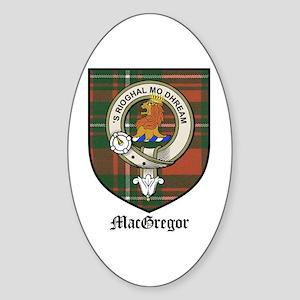 MacGregor Clan Crest Tartan Oval Sticker