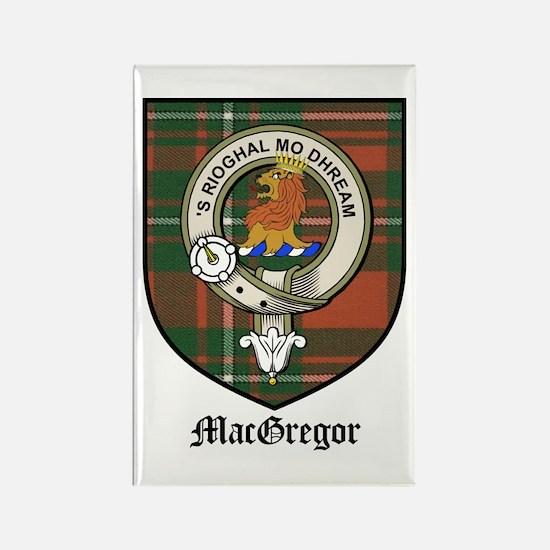 MacGregor Clan Crest Tartan Rectangle Magnet (10 p