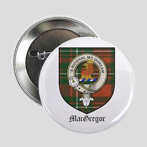 """MacGregor Clan Crest Tartan 2.25"""" Button"""