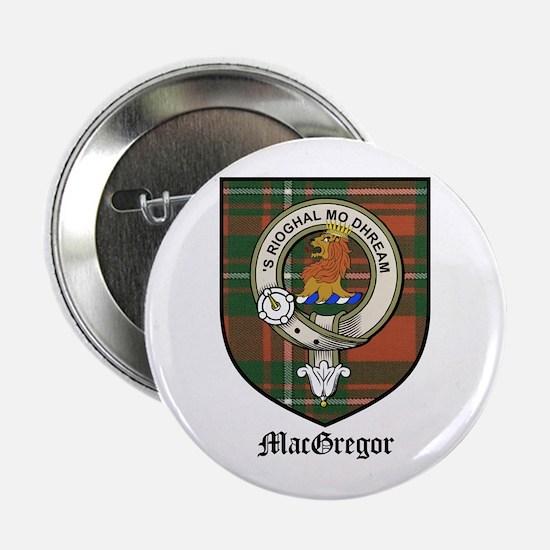 """MacGregor Clan Crest Tartan 2.25"""" Button (10 pack)"""