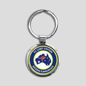 FC-Casey-Station-Australia-shield Round Keychain