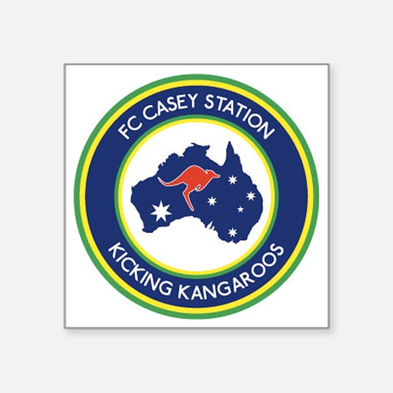"FC-Casey-Station-Australia- Square Sticker 3"" x 3"""