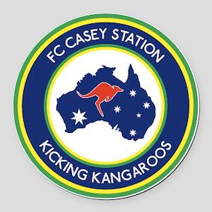 FC-Casey-Station-Australia-shield Round Car Magnet