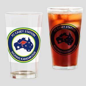 FC-Casey-Station-Australia-shield Drinking Glass