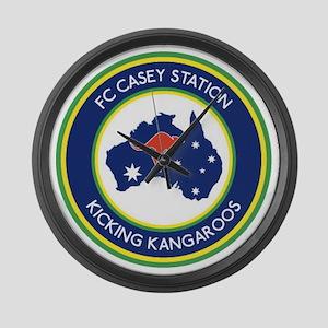 FC-Casey-Station-Australia-shield Large Wall Clock