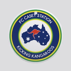 FC-Casey-Station-Australia-shield Round Ornament